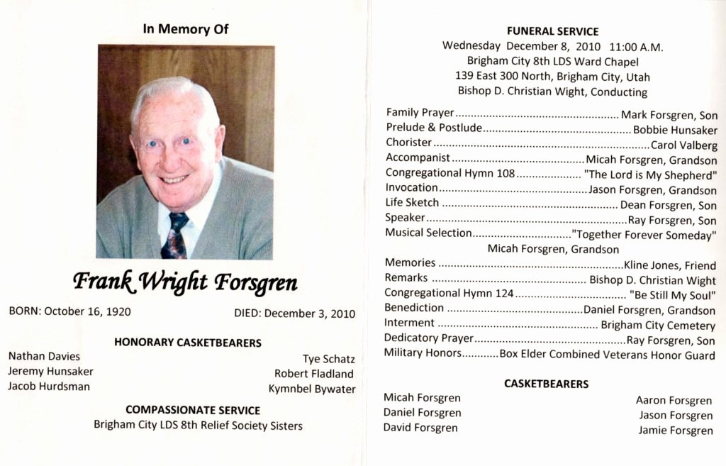 Funeral Program Templates Word Free Unique Funeral Brochure Template Word How to Make A Funeral