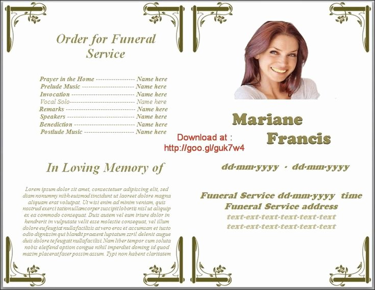 Funeral Program Templates Word Free Unique Pin by Sam Bither On Funeral Program Templates for Ms Word
