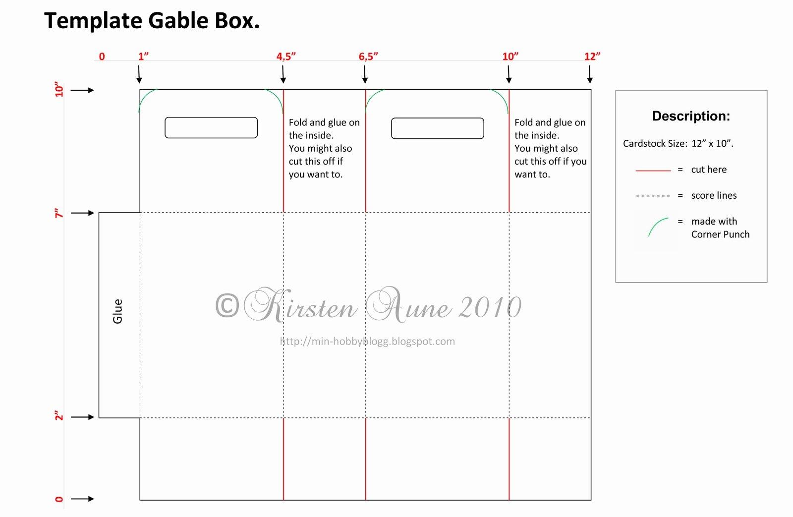 Gable Box Template Awesome Kirstens Blogg Dt Unik Hobby Gable Box