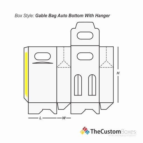 Gable Box Template Beautiful Gable Bag Bottom Hanger
