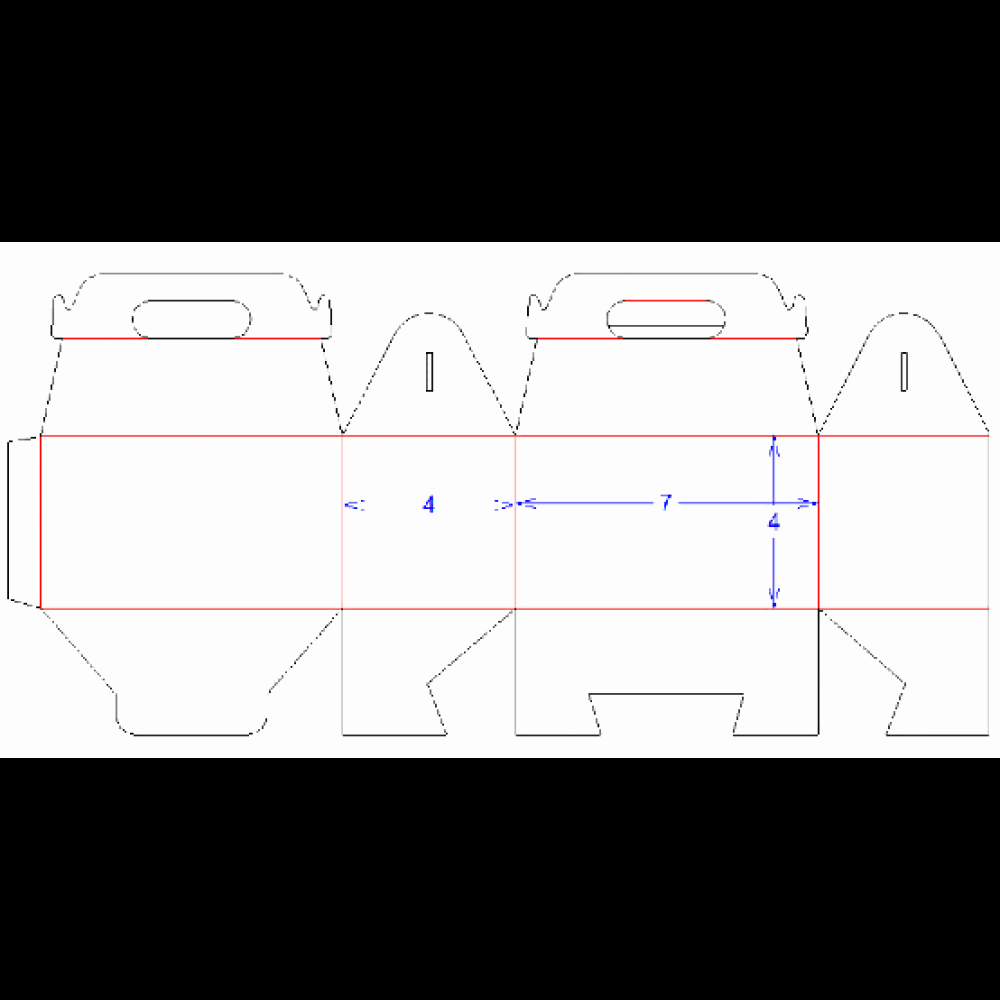 """Gable Box Template Lovely 7"""" X 4"""" X 4"""" Paperboard Gable Box"""