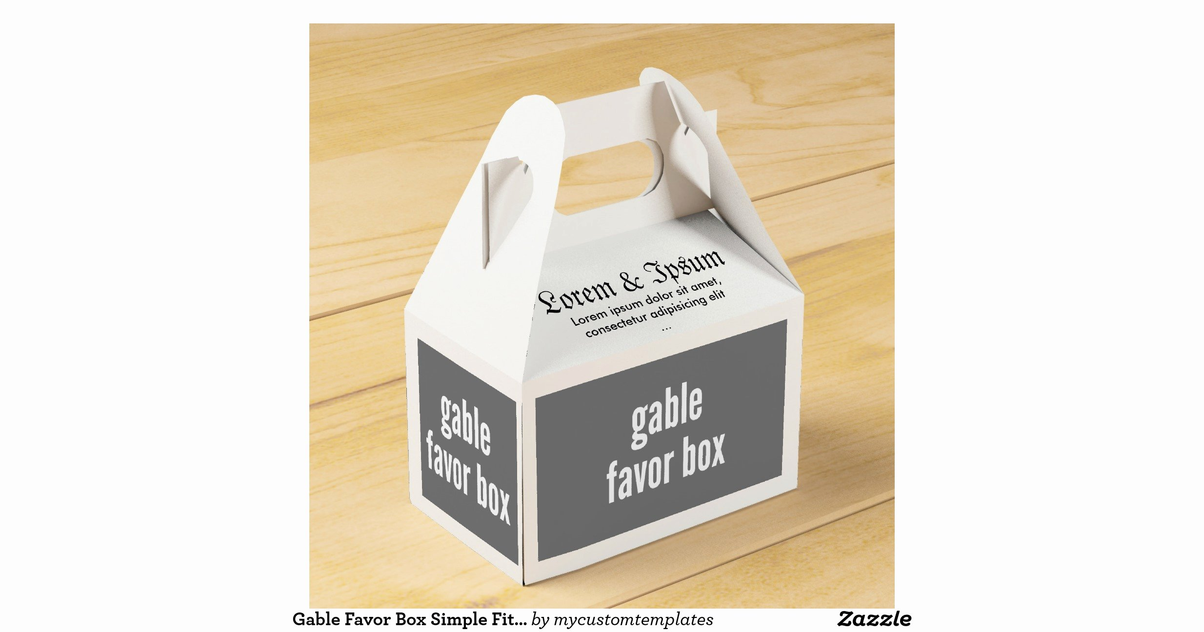 Gable Box Template New Gable Favour Box Simple Fit Template