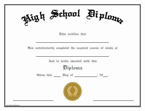 Ged Certificate Template Download New 25 High School Diploma Templates Free Download