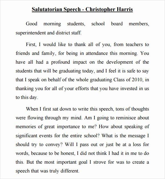 salutatorian speech examples