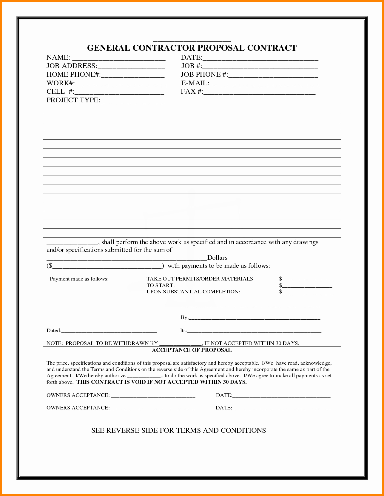 free contractor proposal template white paper doc construction word doc general templates 17