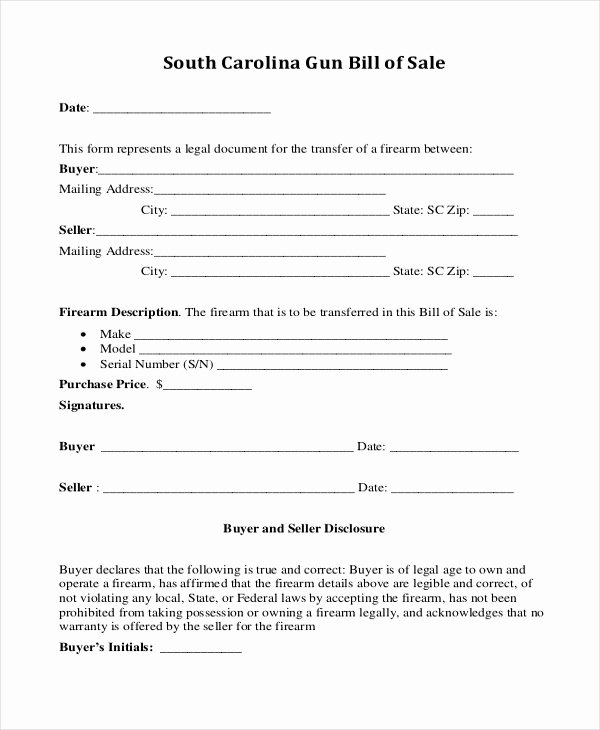 Generic Bill Of Sale form Printable Awesome Sample Generic Bill Of Sale form 10 Free Documents In Pdf