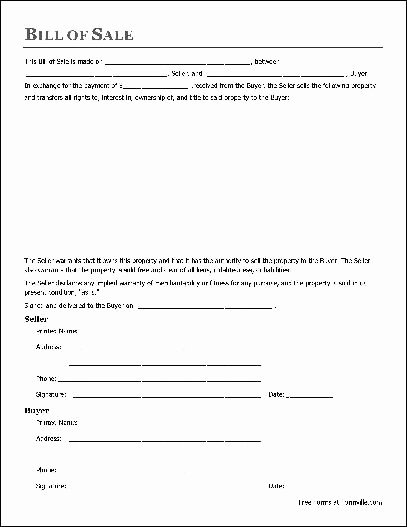 Generic Bill Of Sale form Printable Best Of Free Printable Bill Of Sale Templates form Generic