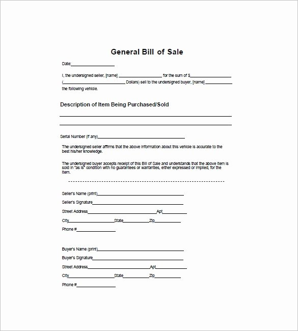 Generic Bill Of Sale form Printable Lovely 12 Dirt Bike Bill Of Sale