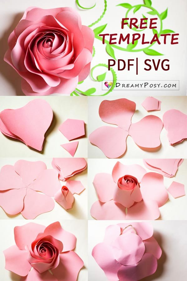 Giant Rose Template Best Of Free Template and Full Tutorial to Make Giant Rose for