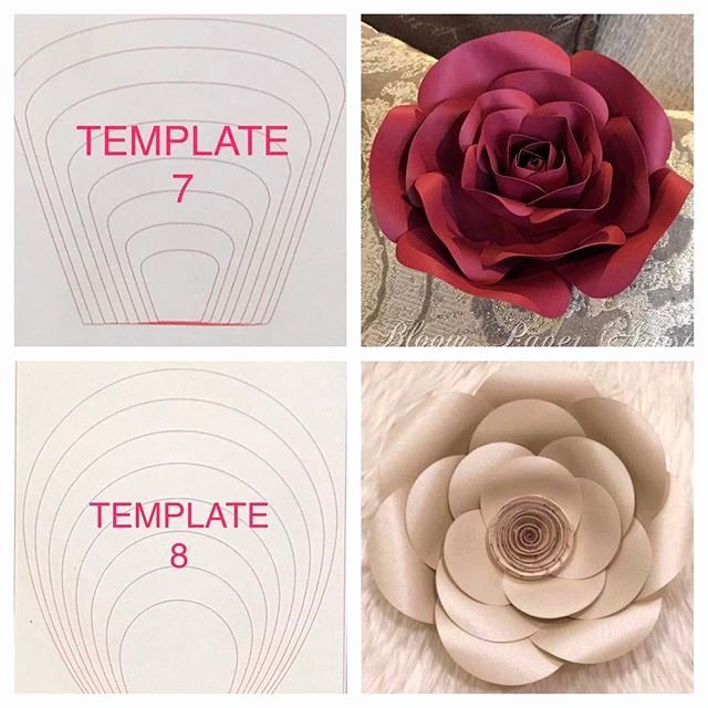 Giant Rose Template Elegant Paper Flower Templates Craft Room