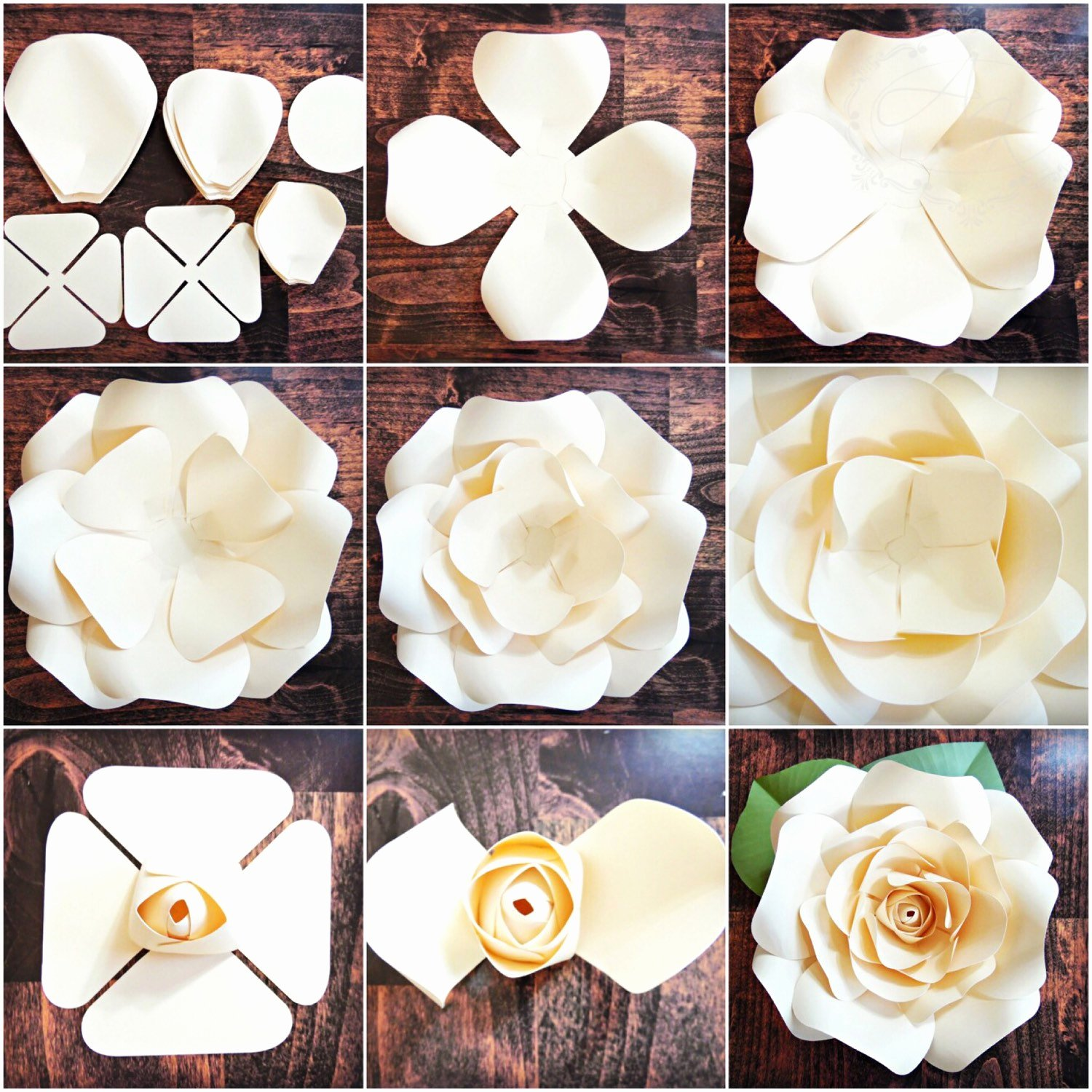Giant Rose Template Inspirational Diy Giant Rose Templates Paper Rose Patterns & Tutorials
