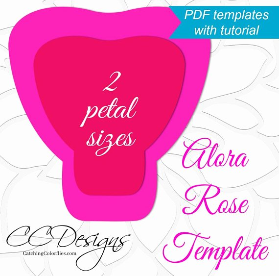 Giant Rose Template New Printable Pdf Paper Rose Templates Giant Paper Rose Flower