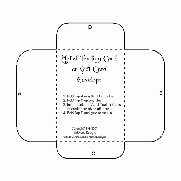 Gift Card Envelope Templates Best Of 10 Gift Card Envelope Templates Free Printable Word