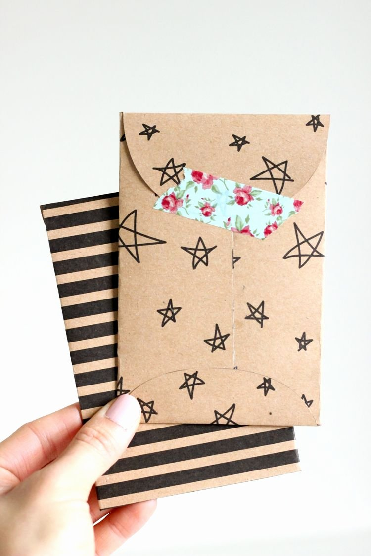 Gift Card Envelope Templates Best Of Kraft Paper Gift Card Envelope Free Printable