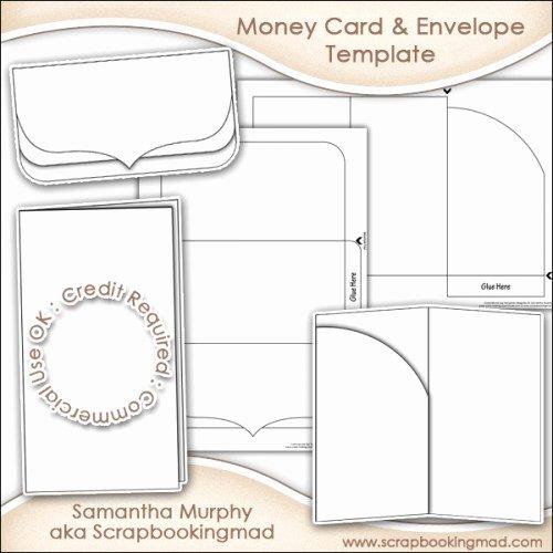 Gift Card Envelope Templates Fresh Money Gift Card & Envelope Template Mercial Use £3 50