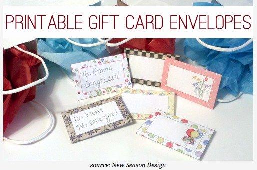 Gift Card Envelope Templates Inspirational Free Printable Gift Card Envelopes Ftm