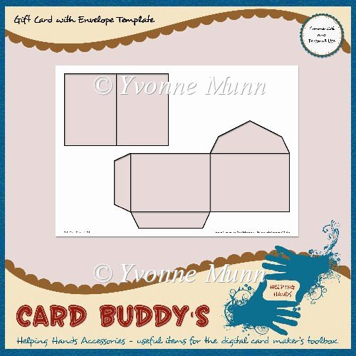 Gift Card Envelope Templates Luxury Gift Card with Envelope Template – Cu Pu £1 80 Instant