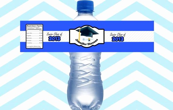 Graduation Address Labels Template Free Beautiful Items Similar to 15ct Graduation Water Bottle Labels