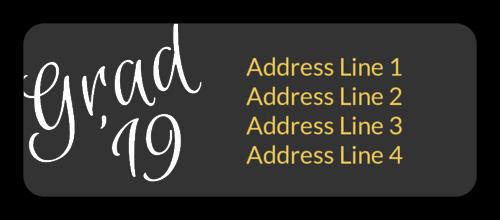 Graduation Address Labels Template Free Beautiful Pre Designed Label Templates Create Personalized Labels
