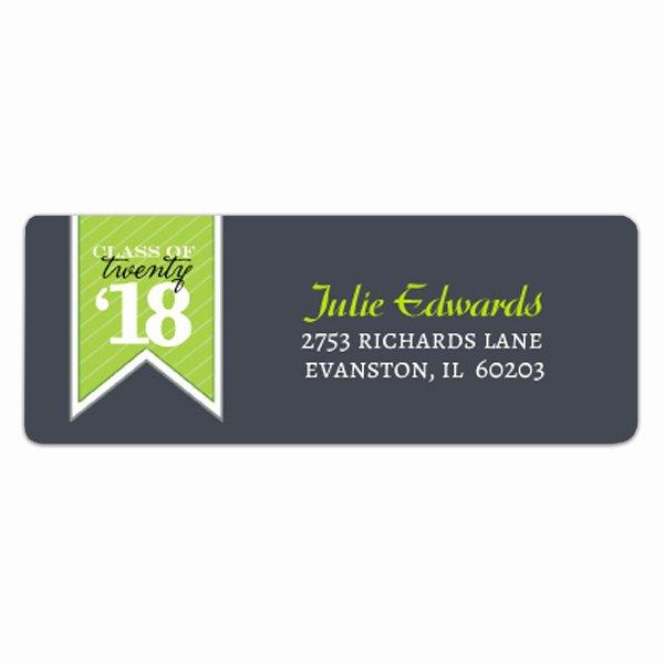 Graduation Address Labels Template Free Best Of Banner Green Graduation Address Labels
