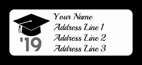 Graduation Address Labels Template Free Elegant Graduation Cap Address Labels Label Templates Ol385