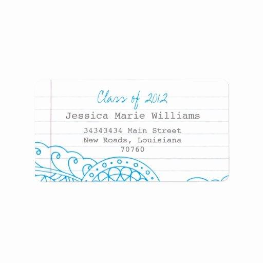 Graduation Address Labels Template Free Inspirational Graduation Personalized Address Labels