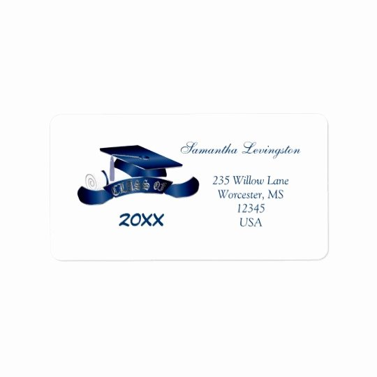 Graduation Address Labels Template Free Luxury Graduation Mortar Cap Avery Label