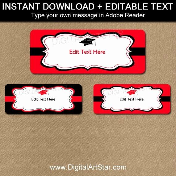 Graduation Address Labels Template Free Luxury Printable Graduation Return Address Labels by Digitalartstar