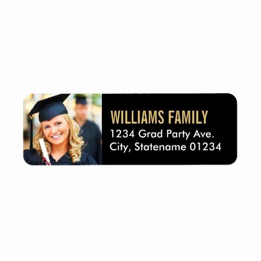 Graduation Address Labels Template Free New Return Address Labels Graduation Design