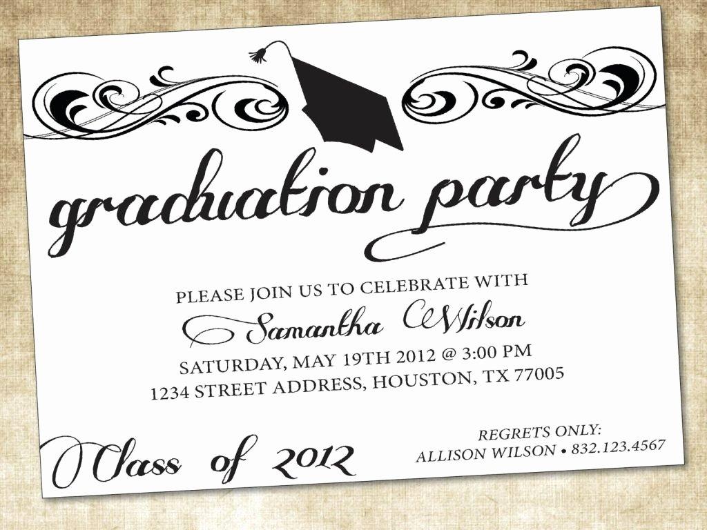 graduation invitation template word