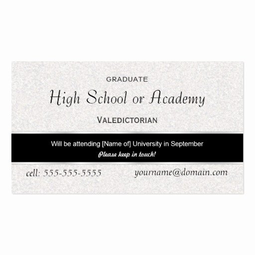 Graduation Name Cards Template Best Of High School Graduation Name Cards 2009 Business Card