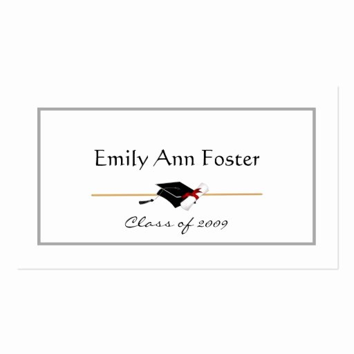 Graduation Name Cards Template New Personalized Graduation Name Cards Double Sided Standard