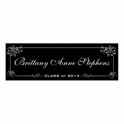 Graduation Name Cards Template Unique Elegant Graduation Name Card Insert Business Cards