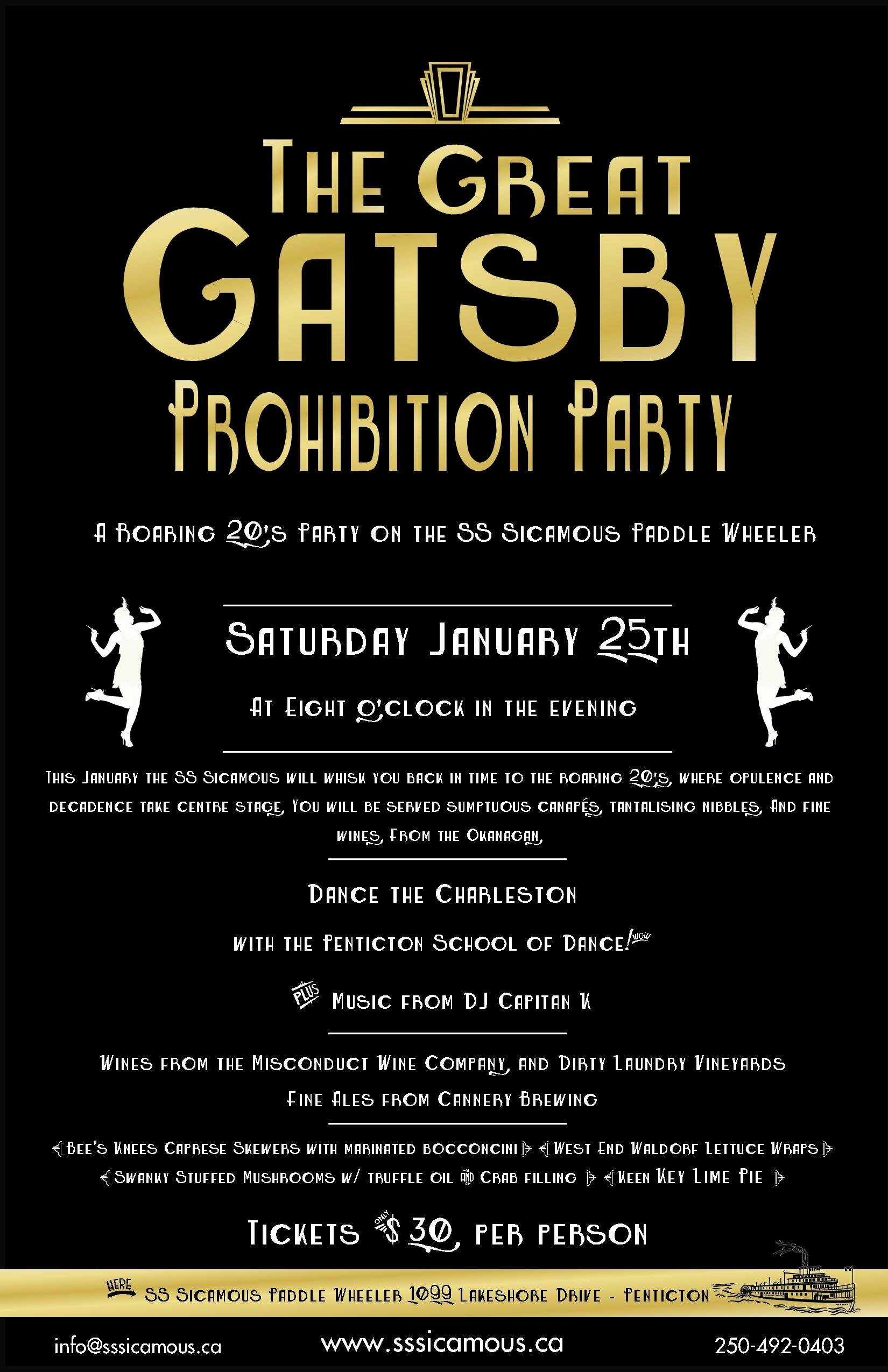 The Great Gatsby Prohibition Party
