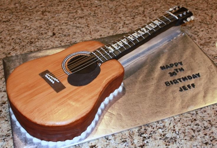 Guitar Cake Template Beautiful Acoustic Guitar Cake Template Cakepins
