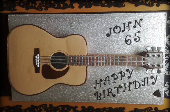 Guitar Cake Template Inspirational Acoustic Guitar Cake On Central Template Definition