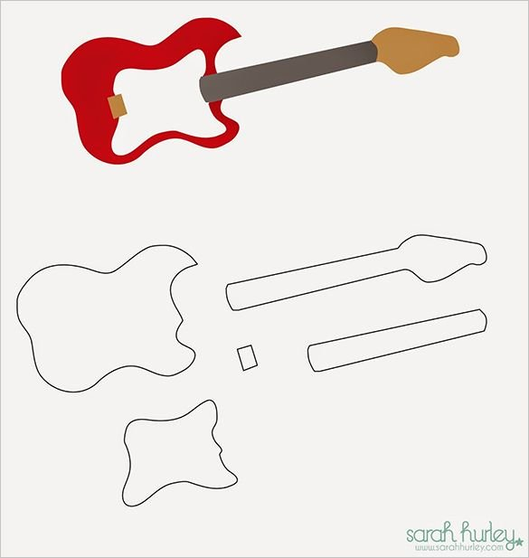 Guitar Cake Template Luxury Best 25 Guitar Cake Ideas On Pinterest