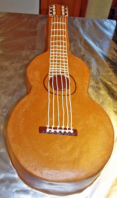 Guitar Cake Template New 4 Goodness Bake Guitar Cake