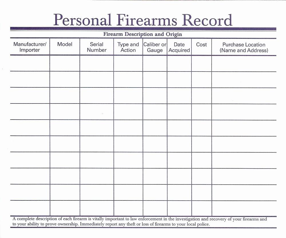 Gun Inventory Spreadsheet Beautiful Firearms Inventory Spreadsheet