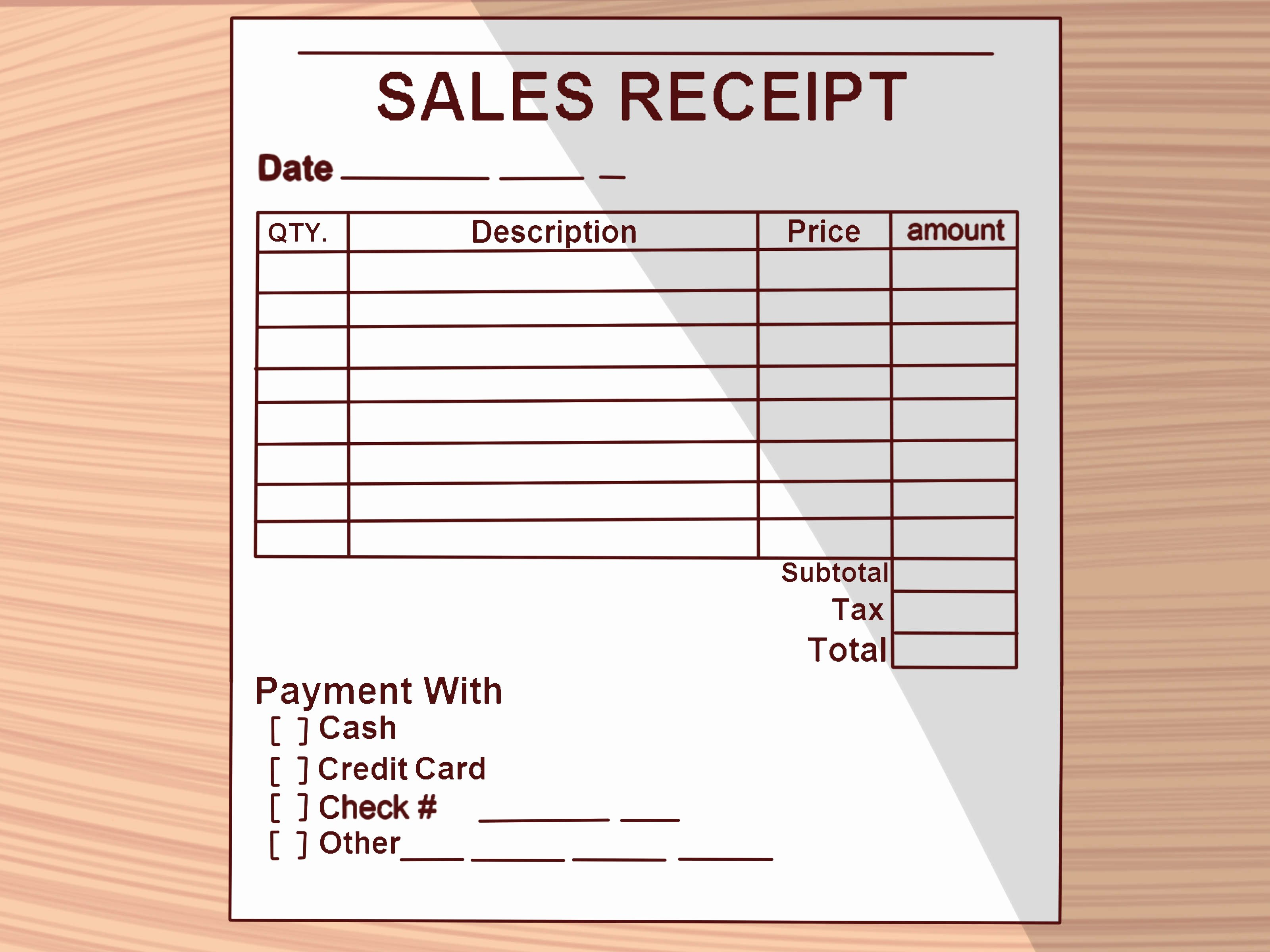 Hand Written Receipt Template Fresh How to Write A Receipt 9 Steps with Wikihow
