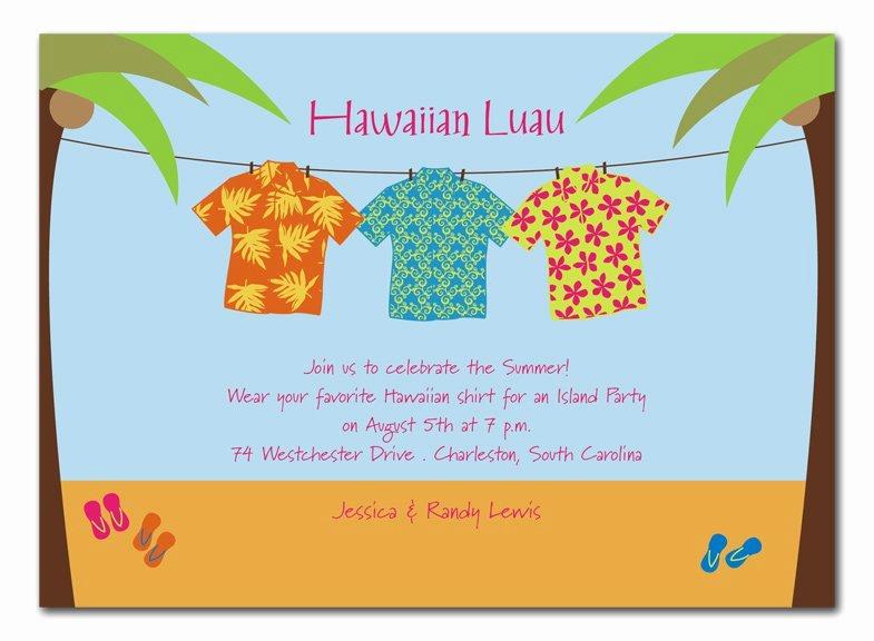 aloha shirt invitations
