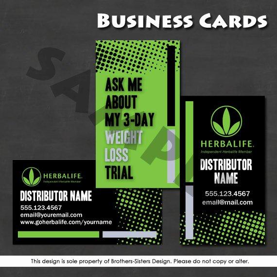 herbalife business card digital