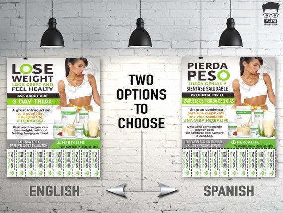 Herbalife Flyer Sample Fresh Herbalife Flyer Custom Print Ready English or by