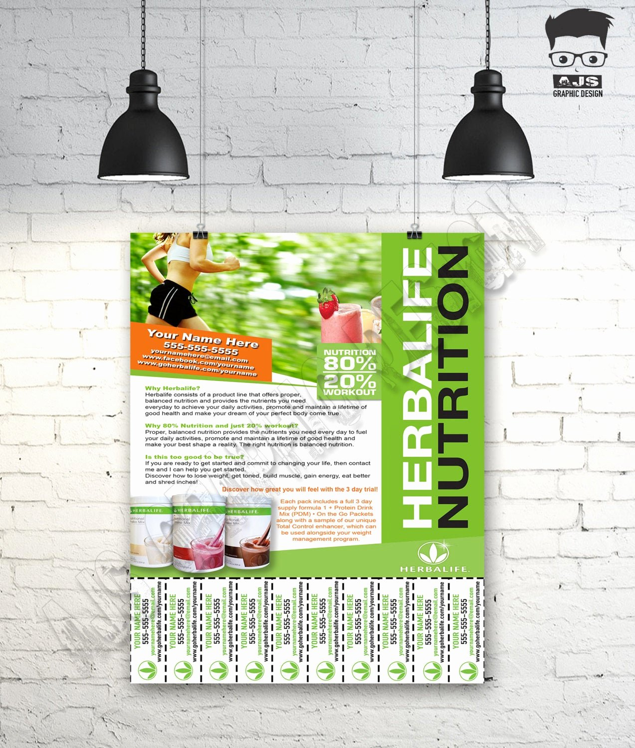 Herbalife Flyer Template Awesome Custom Print Ready Herbalife Contact Flyer by Ajsgraphdesign