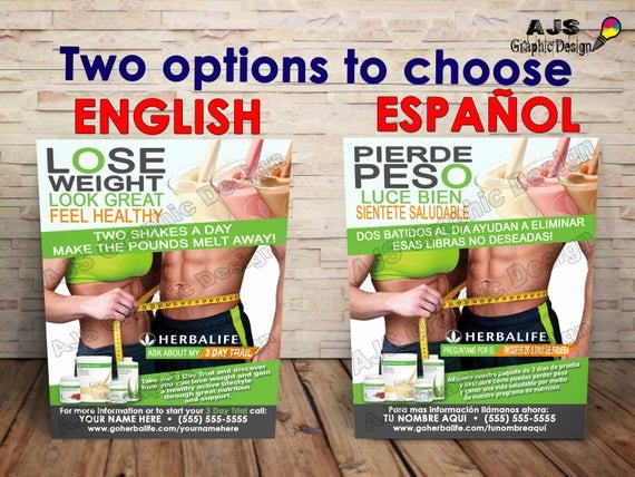 "Herbalife Flyer Template Beautiful 500 Herbalife Flyers 3"" X 5"" • English or Spanish"