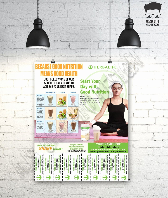 Herbalife Flyer Template Elegant Herbalife Contact Flyer • Print Ready • Custom Design U