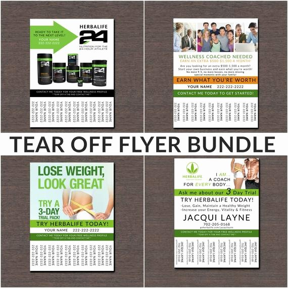 Herbalife Flyer Template Inspirational Herbalife Tear F Flyer Bundle by Wackyjacquisdesigns On Etsy