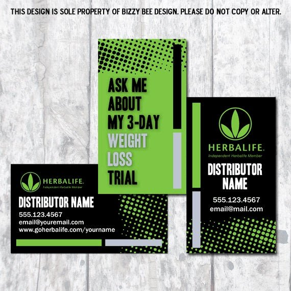Herbalife Flyer Templates Elegant Herbalife Business Card Digital Download by Bizzybdesign