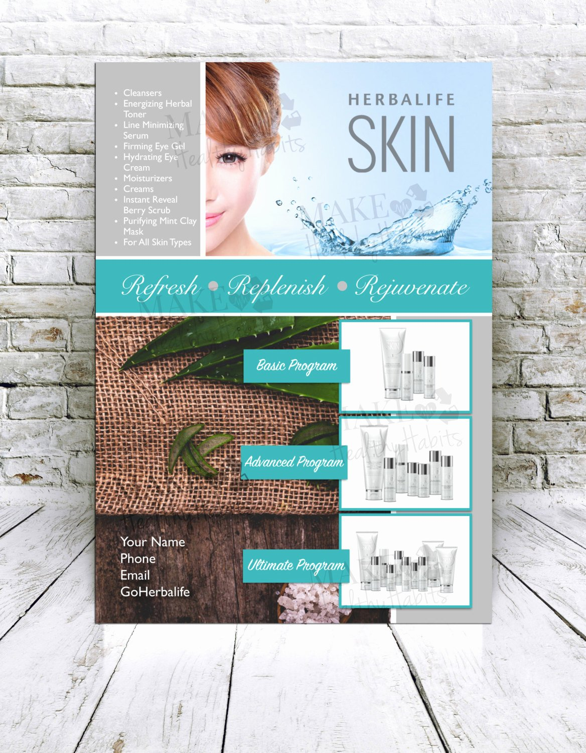 Herbalife Flyer Templates Fresh Custom Print Ready Herbalife Skin Flyer by
