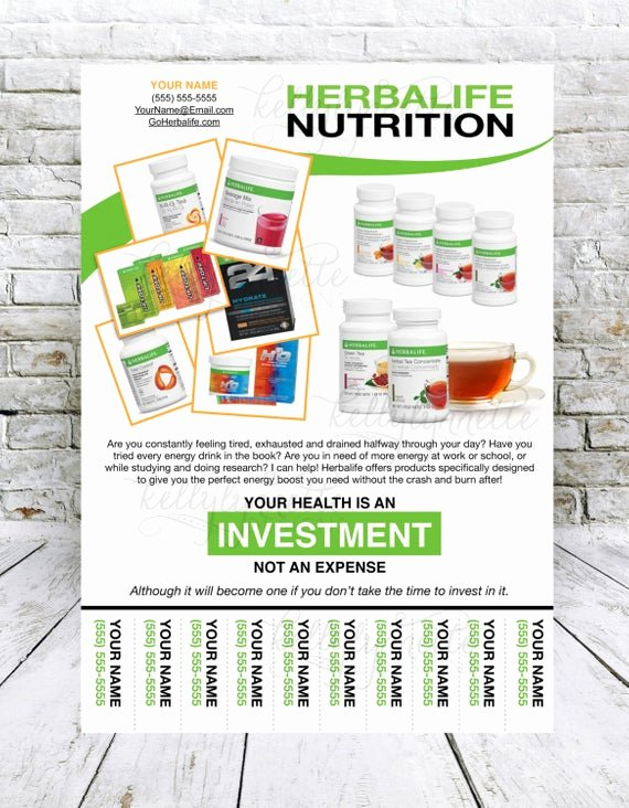Herbalife Flyer Templates Luxury Custom Print Ready Herbalife Energy Products Contact Flyer